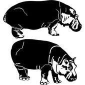 Hippopotame — Vecteur