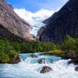 Riksdalsbreen glacier, Norway — Stock Photo