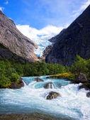 Riksdalsbreen glacier, Norway — Stock Photo