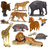 Set with Animals — Stock Vector
