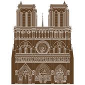 Notre Dame de Paris — Vetorial Stock