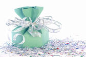 Fundo de natal com caixa de presente — Fotografia Stock