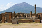 Ruins of Pompei and Mt. Vesuvius — Stock Photo