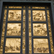 Bronze door by Ghiberti, Florence, Italy. - Stock Photo