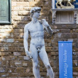 Michelangelo s sculpture of David — Stock Photo