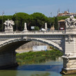 Stock Photo: Bridge over the river Tiber in Rome