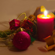 Christmas Candle — Foto de stock #15731077