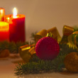 Christmas Candles — Stockfoto #15731141