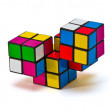 Puzzle four dice 2x2x2 combined angular segments — Stock Photo