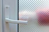 Door with patterned glass — Stock Photo