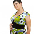 Stock Photo: Young beautiful pregnant woman