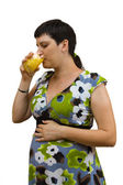 Young beautiful pregnant woman — Stock Photo