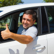 Smiling driver — Stock Photo