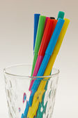 Colorful pens in a glass — Stock Photo