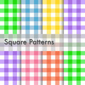 Square patterns illustration — Stock Vector