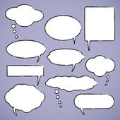 Chat bubbles vector illustration — Stock Vector