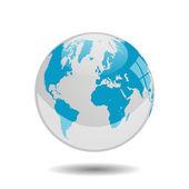 Earth globe vector illustration — Stock Vector
