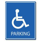 Signe de stationnement handicap — Vecteur