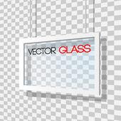 Glass frame vector illustration — Stock Vector