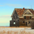 Abandoned Prairie Home — Stock Photo