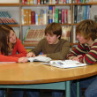 Teen Library Study Group — Stock Photo
