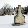 Winter Tombstone — Stock Photo