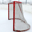 Outdoor Hockey Net — Stock Photo