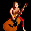 Crazy Guitar Kid — Stock Photo