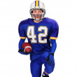 Teen Football Player — Stock Photo