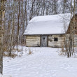 Winter Barn Farm Scene — Stock Photo