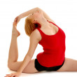 Flexiable Dancer Bending — Stock Photo