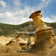 Hoodoo Formations Drumheller Alberta Badlands - Stock Photo