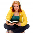 Stock Photo: Happy Female Student Reading