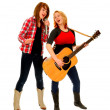 Female Country Singing Duet - Stock Photo