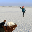 Snowball Fight - Stock Photo