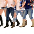 Country Women Line Dance — Stock Photo