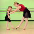 Ballet Teacher with Girl Dance Student - Foto Stock