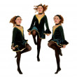 Irish Dancers Trio Performing - Stock Photo