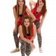 Girls Hip Hop Dance Trio — Stock Photo #12370872