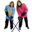 Tween Ringette Players — Stock Photo