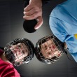 Stock Photo: Hockey Faceoff