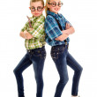 Tap Dancing Nerd Buddies - Foto Stock