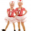 Young Tap Dancing Nurse Buddies — Stock Photo