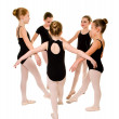 Stock Photo: Pretty Young BallerinDancers