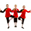 Stock Photo: Jazz Dancer Trio in AsiInspired Costume