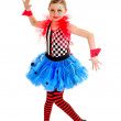 Smiling Abstract Circus Jester Performer — Stock Photo