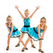 Stock Photo: Novice Girls Tap Dance Trio