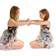 Sibling Lyrical Dance Sisters — Stock Photo