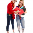Back to School Geeky Teen Students — Stock Photo