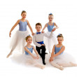 Junior Ballet Dance Group — Stock Photo